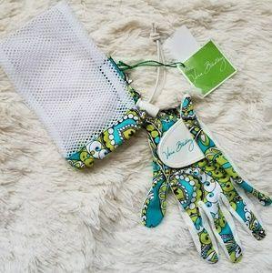 Vera Bradley Golf Glove. NEW with Tags green-turqu